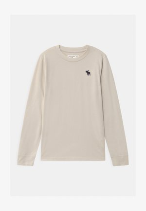 BASIC - Long sleeved top - tan