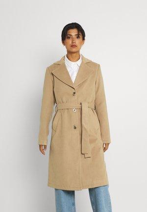 VIPOKU TIE BELT COAT - Classic coat - tigers eye