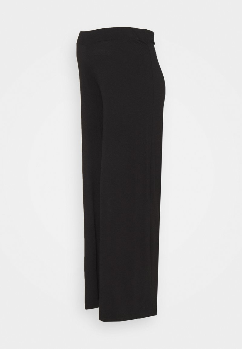 Dorothy Perkins Maternity - WAIST PALAZZO - Tracksuit bottoms - black