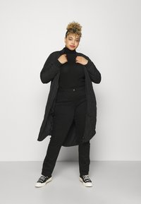 ONLY Carmakoma - CARCARROT NEW LONG QUILTED JACKET - Classic coat - black - 1