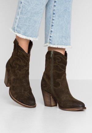 Cowboystøvletter - khaki