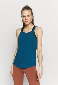 Nike Performance - YOGA STRAPPY TANK - Topper - valerian blue/industrial blue - 0