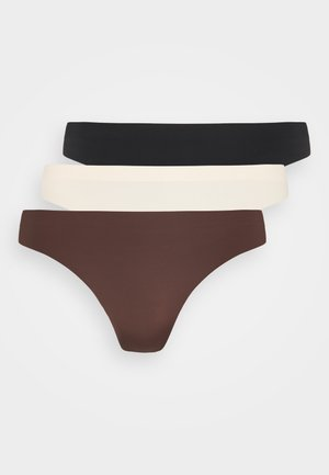 ONLTRACY SEAMLESS THONG 3 PACK - Stringit - nude/black/brown