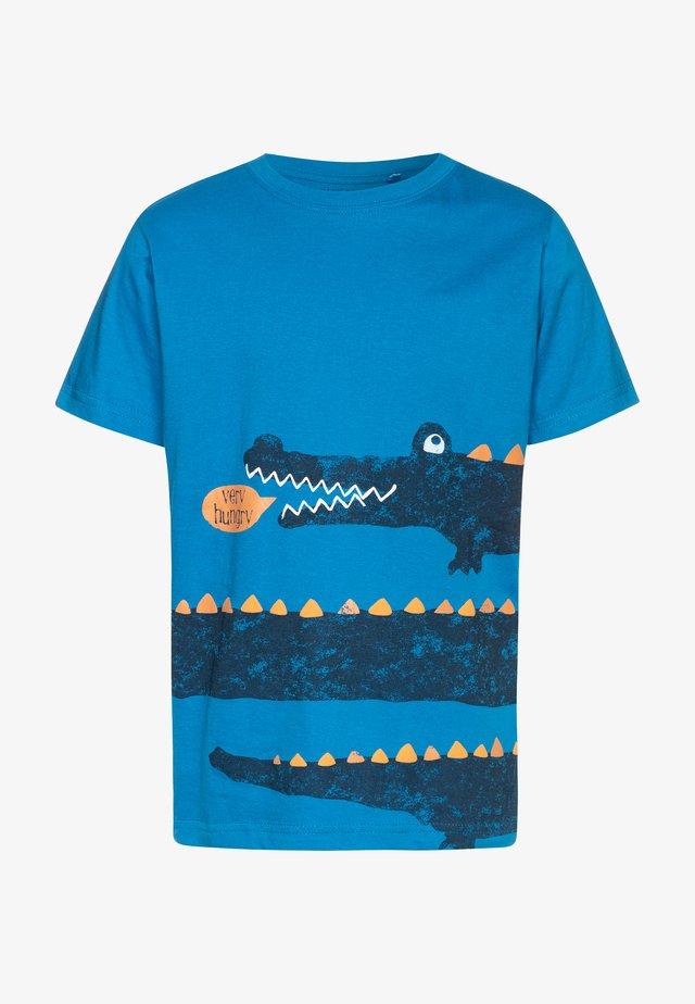 T-shirt print - cyan