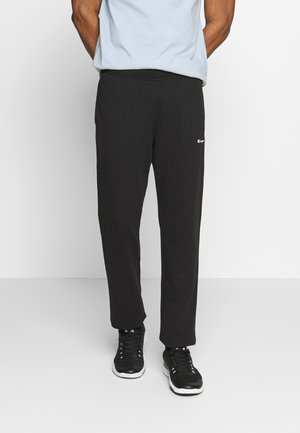STRAIGHT HEM PANTS - Pantaloni sportivi - black
