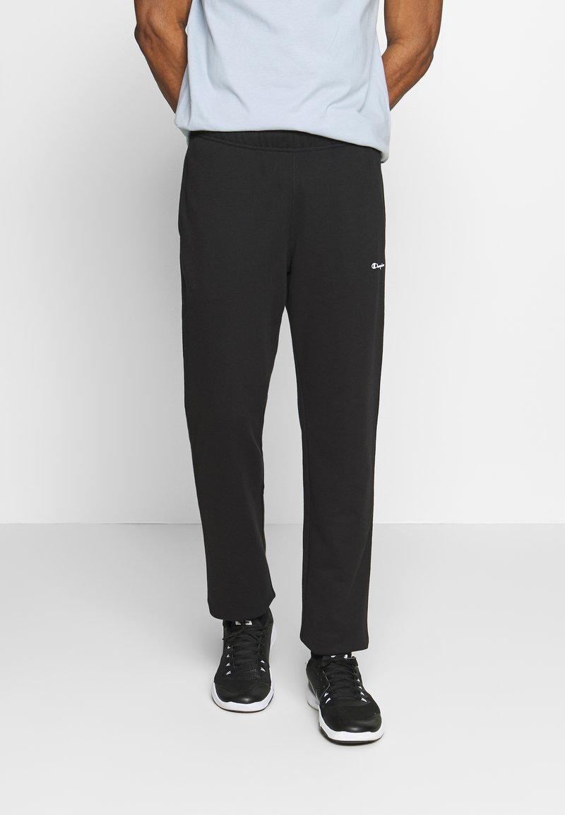 Champion - STRAIGHT HEM PANTS - Verryttelyhousut - black