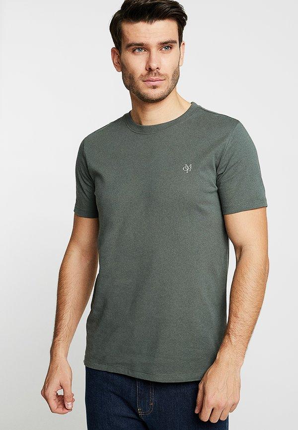 Marc O'Polo C-NECK - T-shirt basic - mangrove/ciemnozielony Odzież Męska HEOL