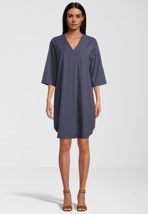 AUS POPELINE - Korte jurk - blue