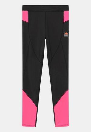 EMILIARA - Leggings - black/neon pink
