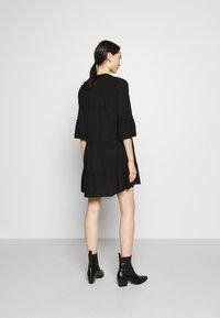 Vero Moda - VMHELI 3/4  WVN GA COLOR - Day dress - black - 2