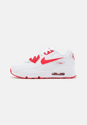 AIR MAX 90 UNISEX - Sneakers - white/hyper red/black
