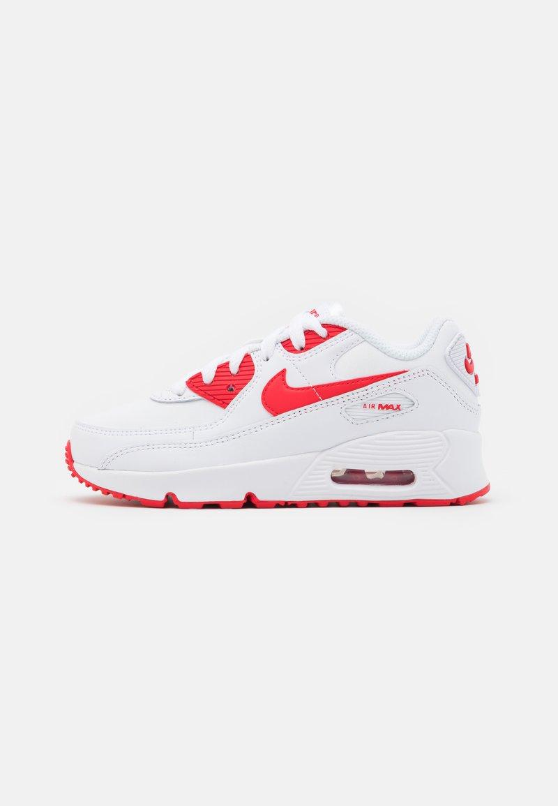 Nike Sportswear - AIR MAX 90 - Sneakersy niskie - white/hyper red/black