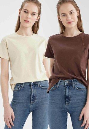 2 PACK - T-shirt print - brown