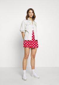 Even&Odd - A-snit nederdel/ A-formede nederdele - goji berry/white - 1
