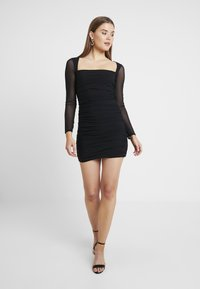 Missguided - SQUARE NECK BODYCON MINI DRESS - Robe fourreau - black - 2