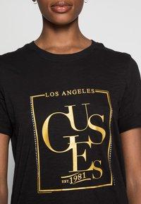 Guess - SIMONNE  - T-shirt z nadrukiem - jet black - 4