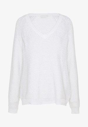 KAJOLAN - Stickad tröja - chalk