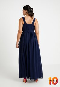 Little Mistress Curvy - ROSE NECK MAXI DRESS - Ballkjole - navy - 3