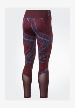 LUX PERFORM TECHNICAL TWIST LEGGINGS - Leggings - burgundy