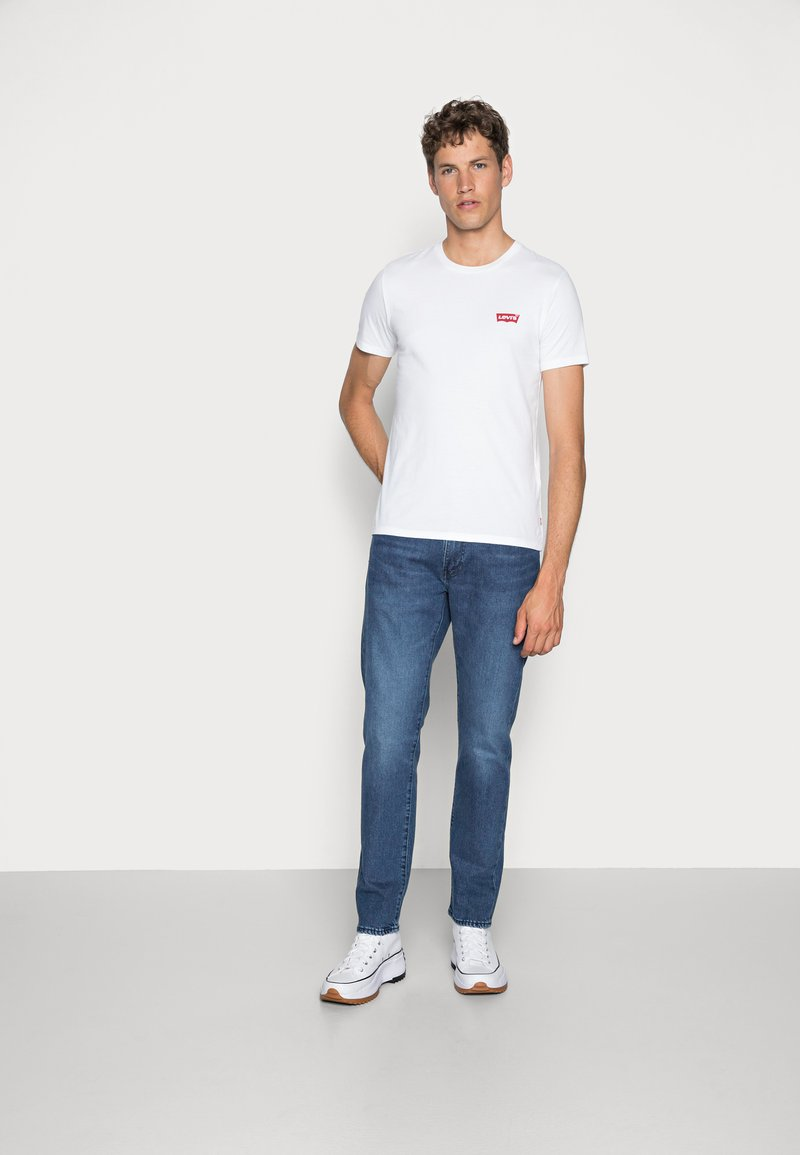 Levi's® - CREWNECK GRAPHIC 2 PACK - T-shirt con stampa - white/mid tone grey heather