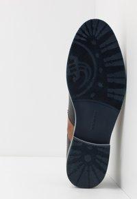 Salamander - VASCO - Smart lace-ups - navy/cognac/grey - 4