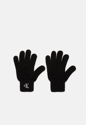 MONOGRAM GLOVES - Gloves - black