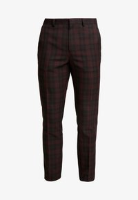 Burton Menswear London - TARTAN  - Suit trousers - red - 4