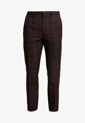 TARTAN  - Oblekové kalhoty - red
