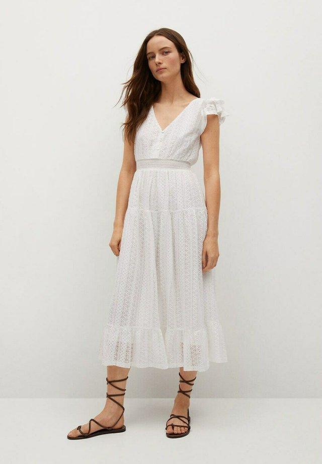Vestido informal - złamana biel