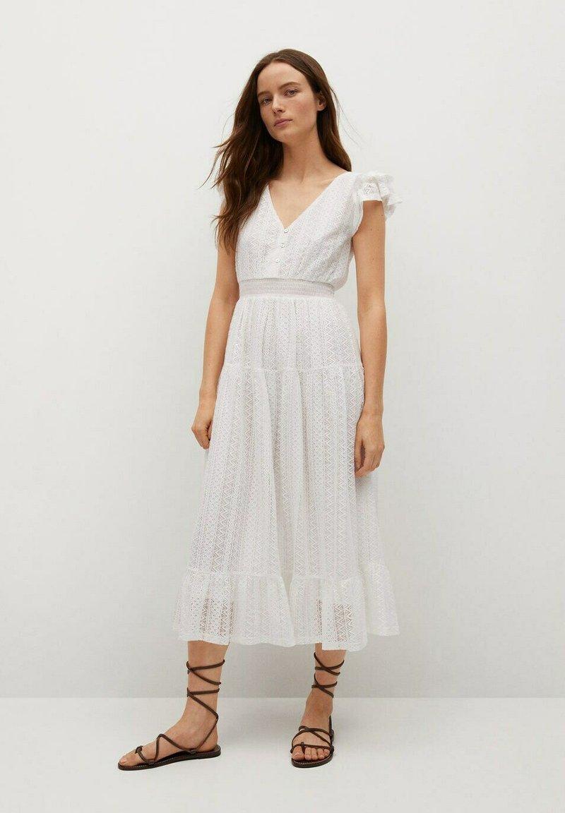 Mango - Day dress - złamana biel