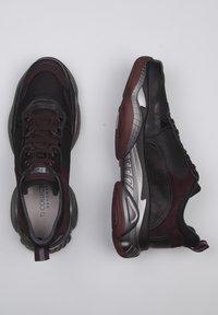 TJ Collection - Sneakers laag - bordeaux/black - 1