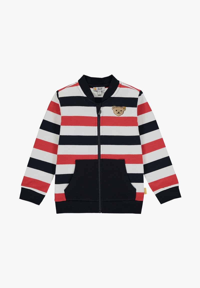 Steiff Collection - MIT MATROSENBÄR - Zip-up sweatshirt - steiff navy