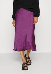 Expresso - HIRA - A-line skirt - dark violet - 0