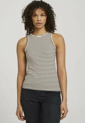 Top - cream black stripe