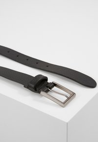 Zign - UNISEX LEATHER - Belt business - black - 1
