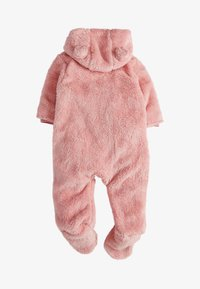 Next - PINK BEAR FLEECE ALL-IN-ONE (0MTHS-2YRS) - Overal - pink - 1