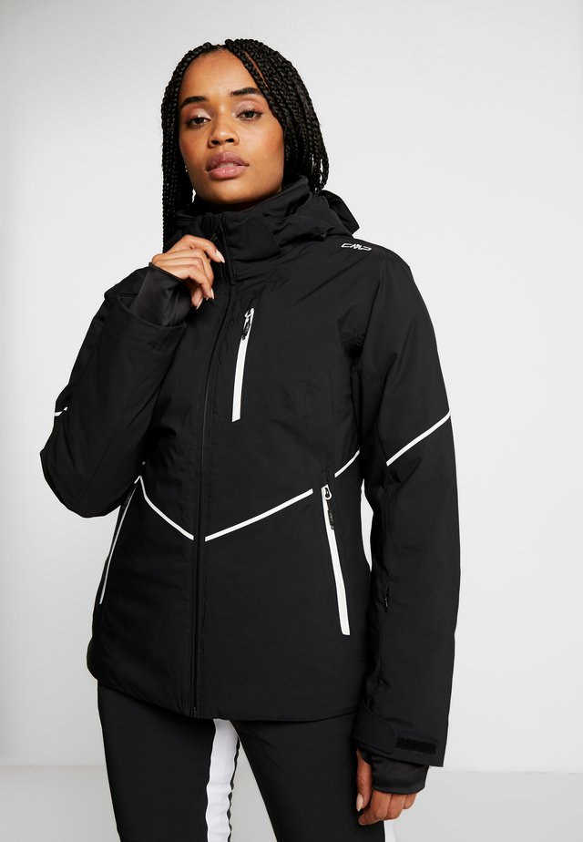 WOMAN JACKET ZIP HOOD - Lyžařská bunda - nero