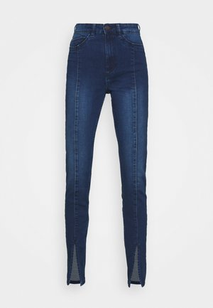 NMCALLIE SLIT DETAIL - Jeans Skinny Fit - dark blue denim