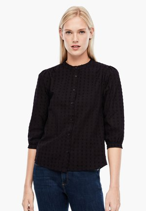 MIT PLUMETIS - Button-down blouse - black