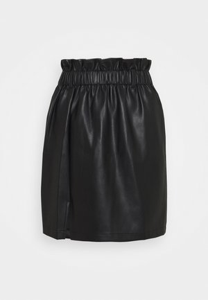 ELASTIC WAIST SKIRT - Mini skirt - black