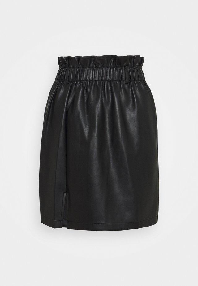ELASTIC WAIST SKIRT - Minigonna - black