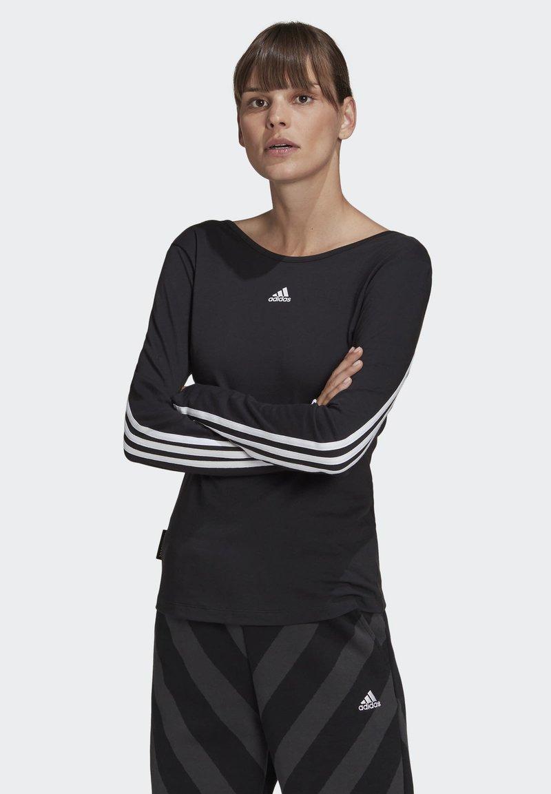 adidas Performance - PRIMEBLUE LONG-SLEEVE TOP - Long sleeved top - black