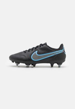 TIEMPO LEGEND 9 ACADEMY SG-PRO AC - Screw-in stud football boots - black/iron grey