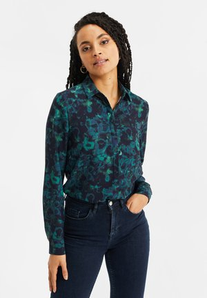 Button-down blouse - all-over print
