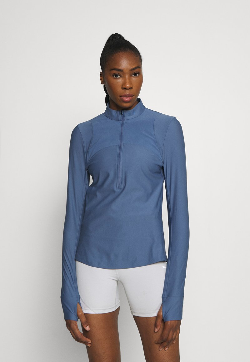 Under Armour - QUALIFIER HALF ZIP DAMEN - Camiseta de deporte - mineral blue