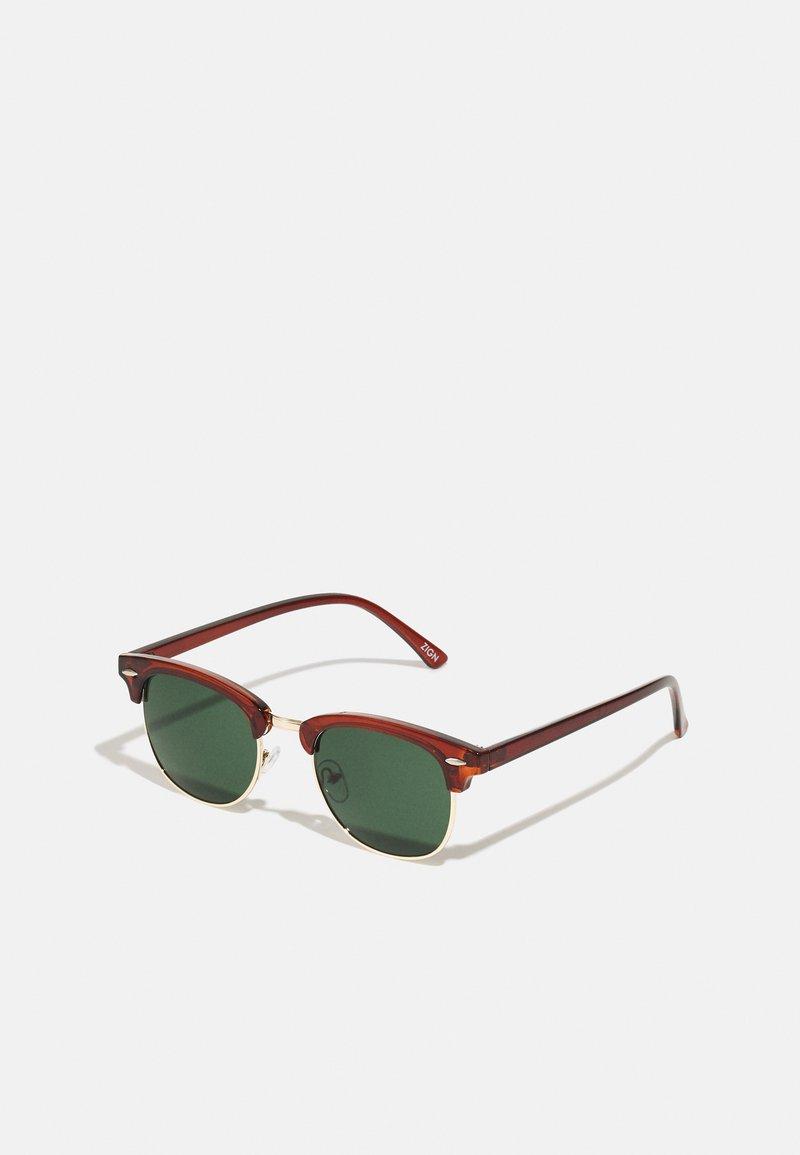 Zign - Okulary przeciwsłoneczne - brown/green