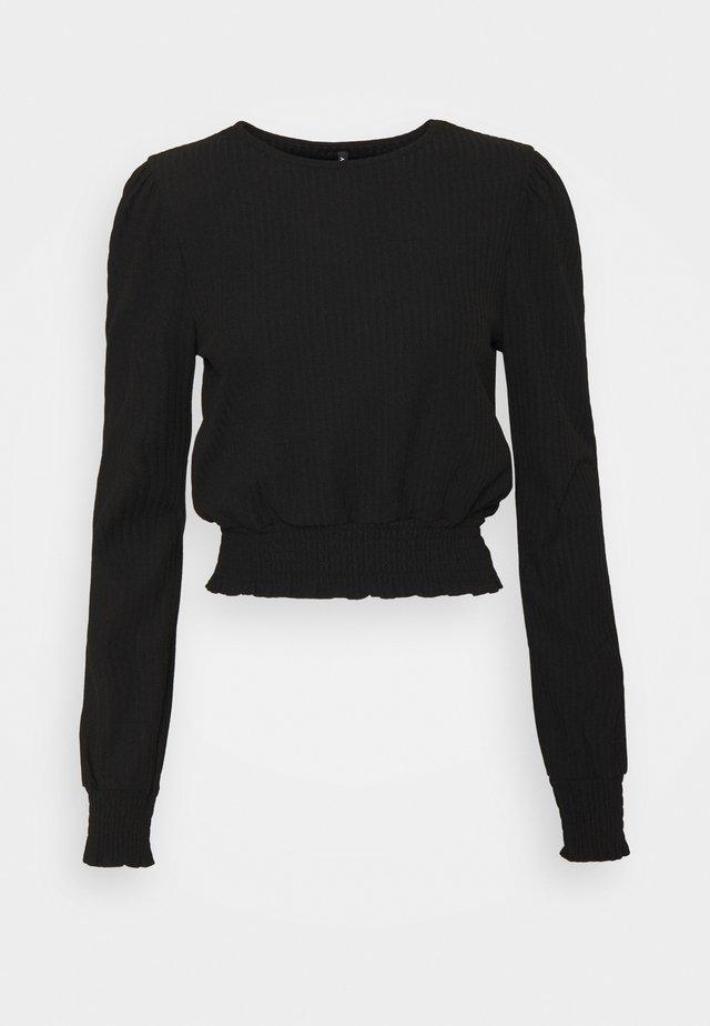 ONLNELLA SMOCK TOP TALL - Pitkähihainen paita - black