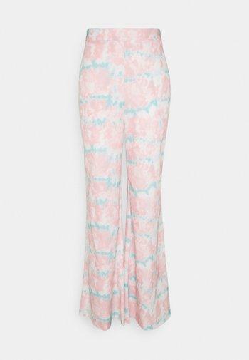 TIE DYE WIDE LEG TROUSER - Trousers - pink