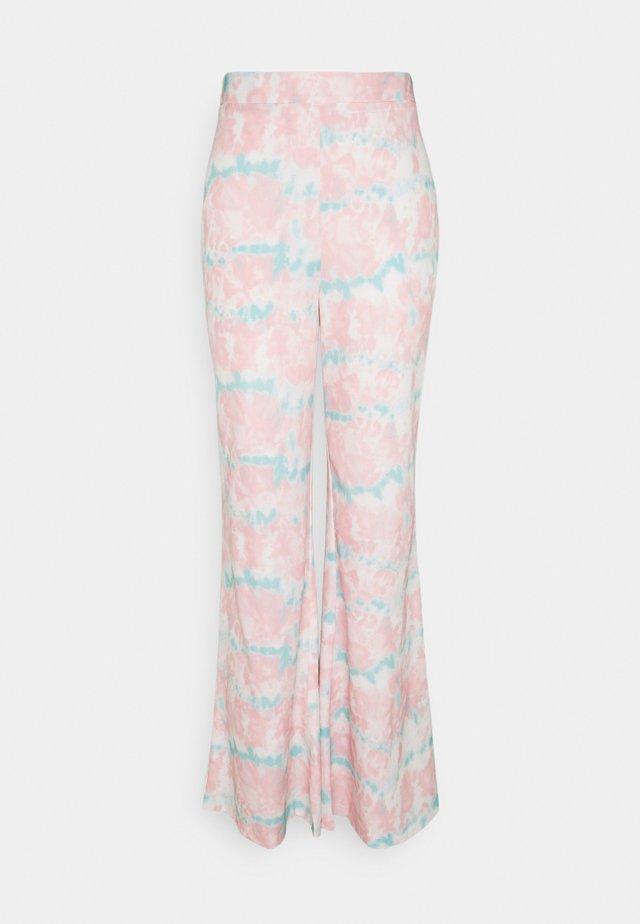 TIE DYE WIDE LEG TROUSER - Pantalon classique - pink