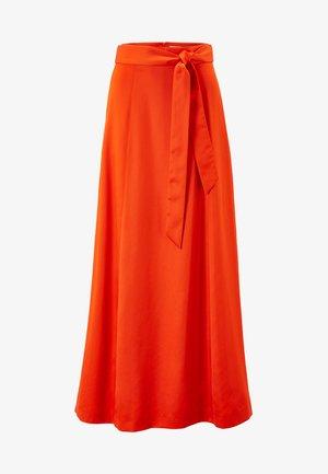 MIT GÜRTEL - Falda larga - mandarin red